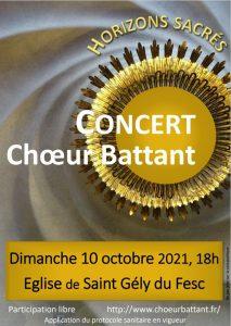 Concert Choeur battant